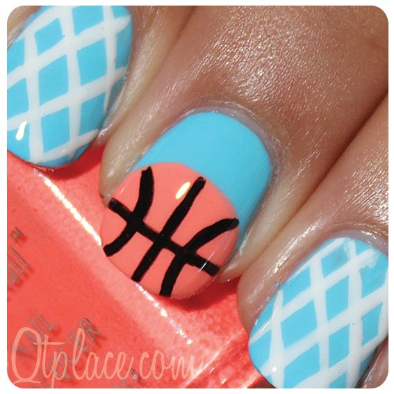 Basketball nails! I'm in love this should be what I wear for games - Basketball Nails! I'm In Love This Should Be What I Wear For Games