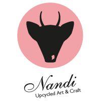 Nandi #upcycled Art & Craft Logo - handgemachte Taschen, Börsen und Leder Accessoires bei Dawanda: Nandi_Shop