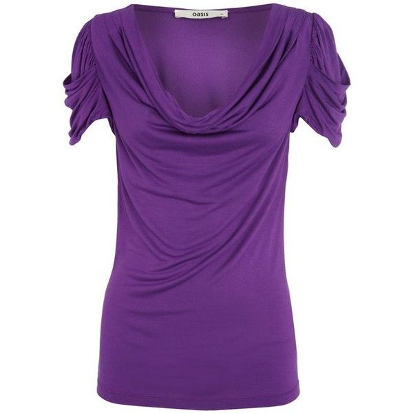 Purple cowl neck drape top ($29) ❤ liked on Polyvore featuring tops, shirts, purple, women's tops, women+tops, shirred top, cowl neck top, drape shirt, drapey top and cowl neck shirt