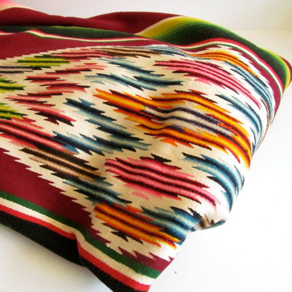 Vintage mexican blanket person
