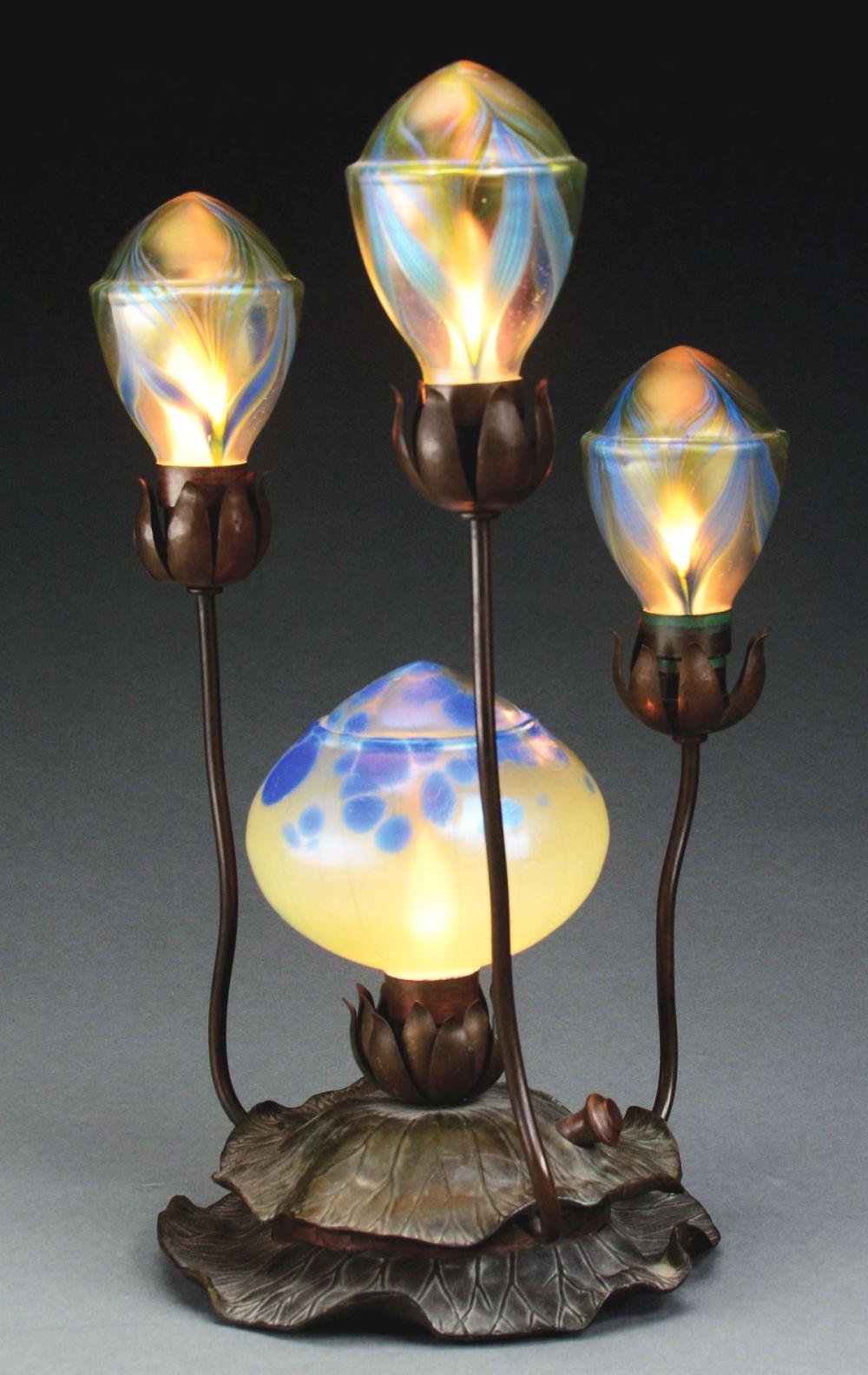 Loetz Table Lamp Is An Art Nouveau