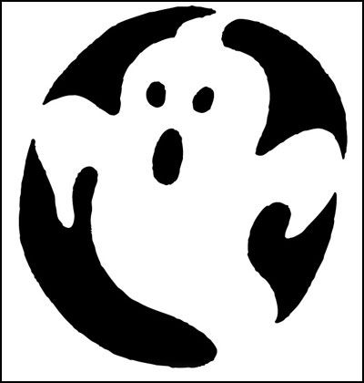 Spooky ghost for Scary jack o lantern face template