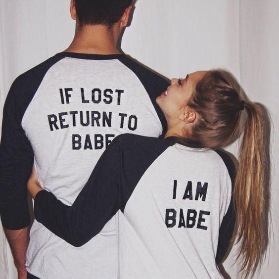 If Lost Return To Babe/ I Am Babe Couples T Shirt – #Babe #Couples #forcouples #Lost #Return