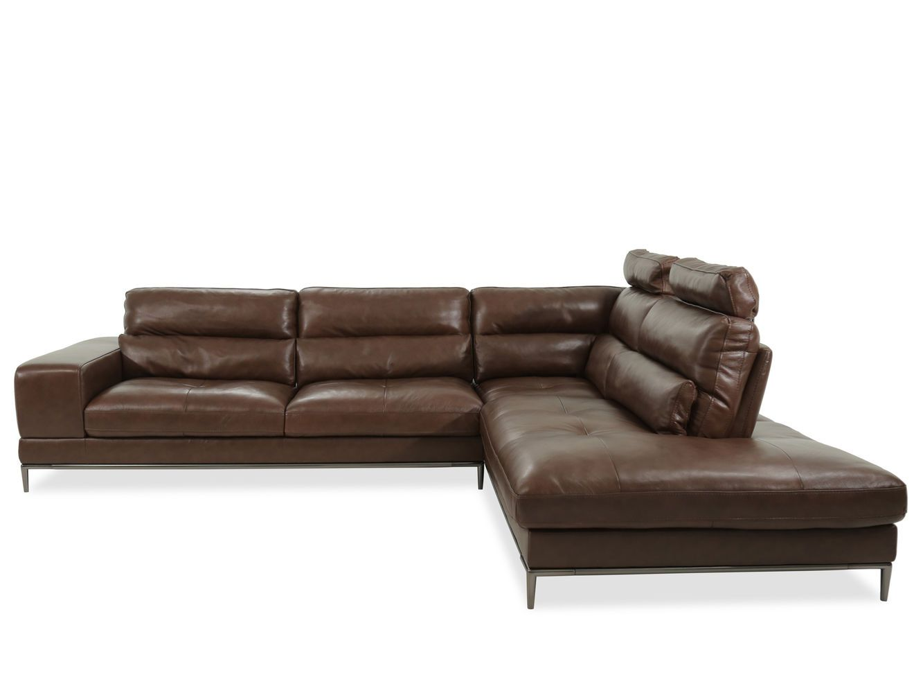 Boulevard Patrona Brown Two-Piece Sectional | Mathis Brothers ...