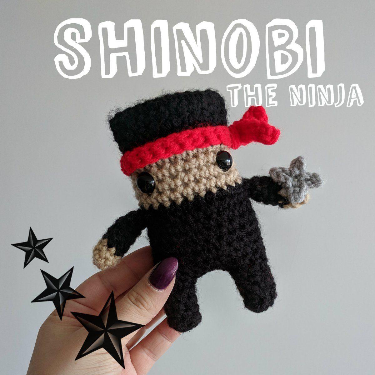 Shinobi the Ninja Crochet for kids, Crochet dolls