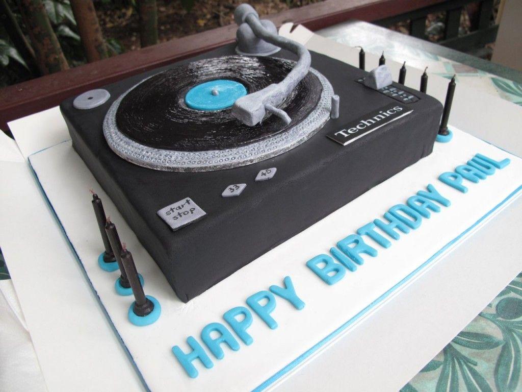 Tremendous Turntable Cake Turntable Cake Music Birthday Cakes Birthday Funny Birthday Cards Online Inifofree Goldxyz