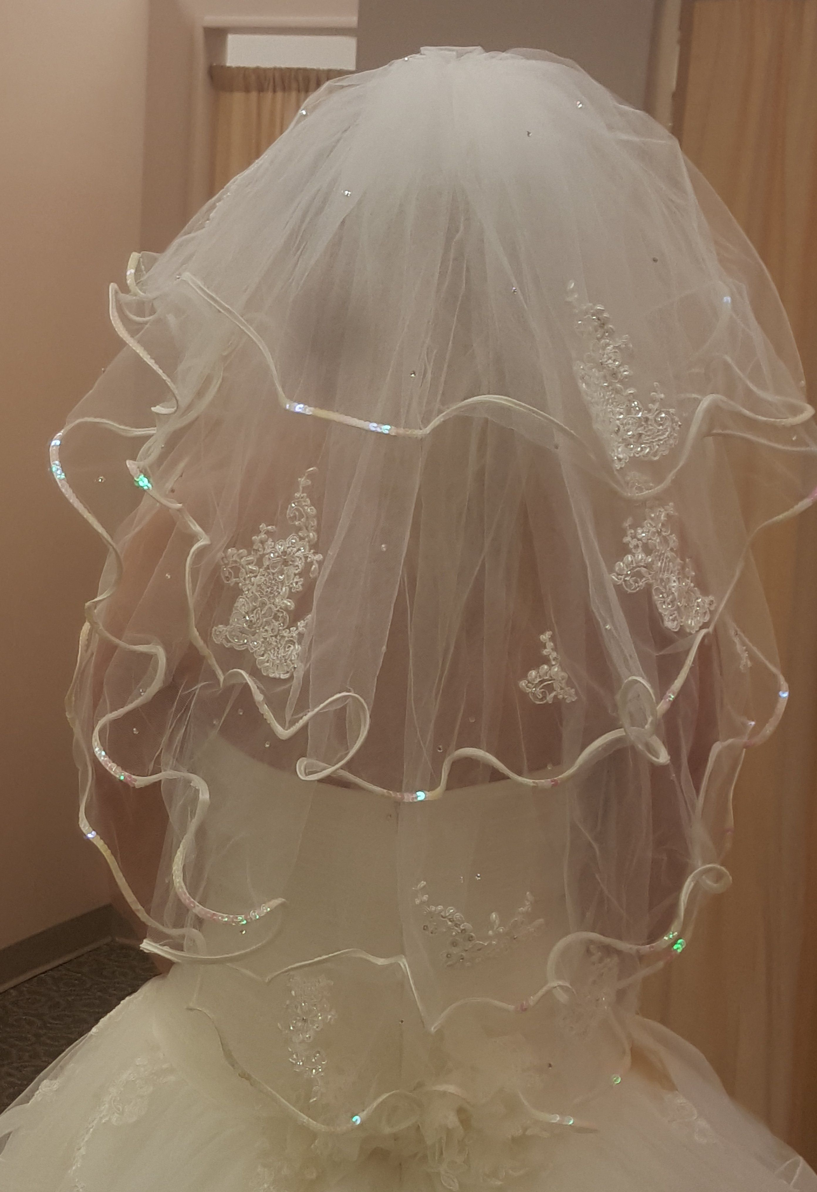Diy Wedding Veil.Diy Wedding Veil Trim And Beading Less Than 25 Total You Can Buy