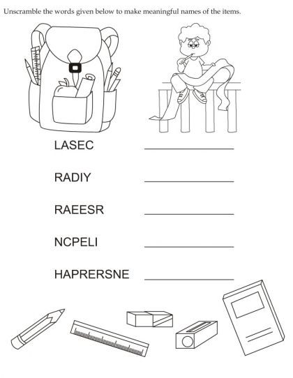 Download English Activity Worksheet Unscramble The Words