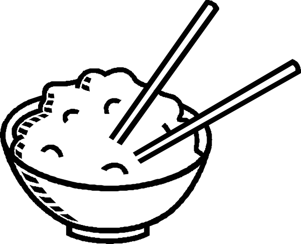 clip art black and white rice bowl black and white clip art rh pinterest com foot clipart images food clipart pics