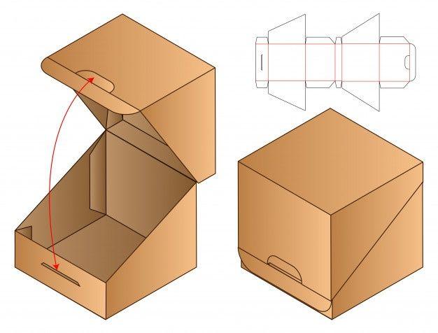 Box Packaging Die Cut Template Design. 3d Template