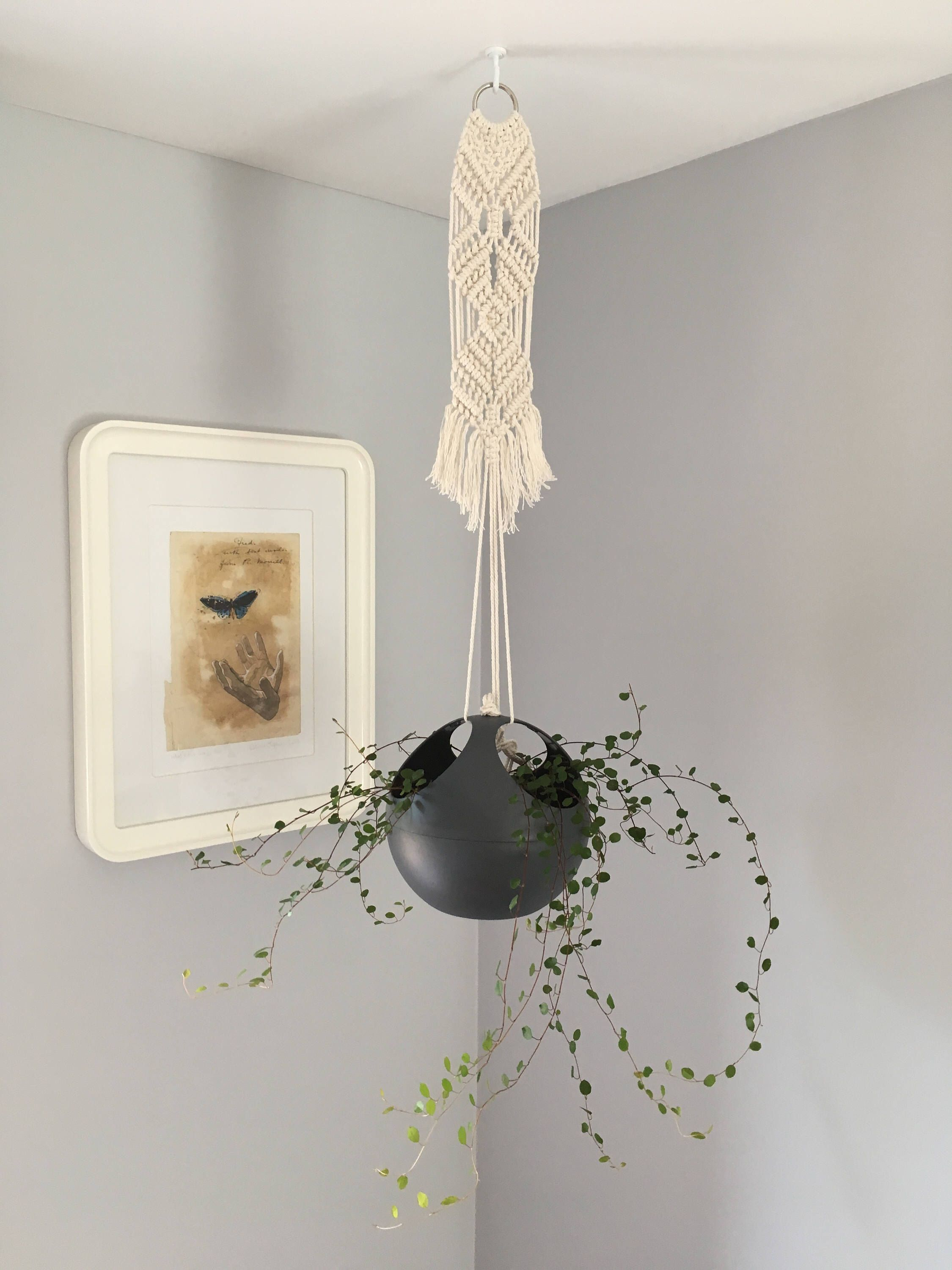 Macrame Hanging Pot extension by MonsteraCreative on Etsy https://www.etsy.com/listing/540392157/macrame-hanging-pot-extension