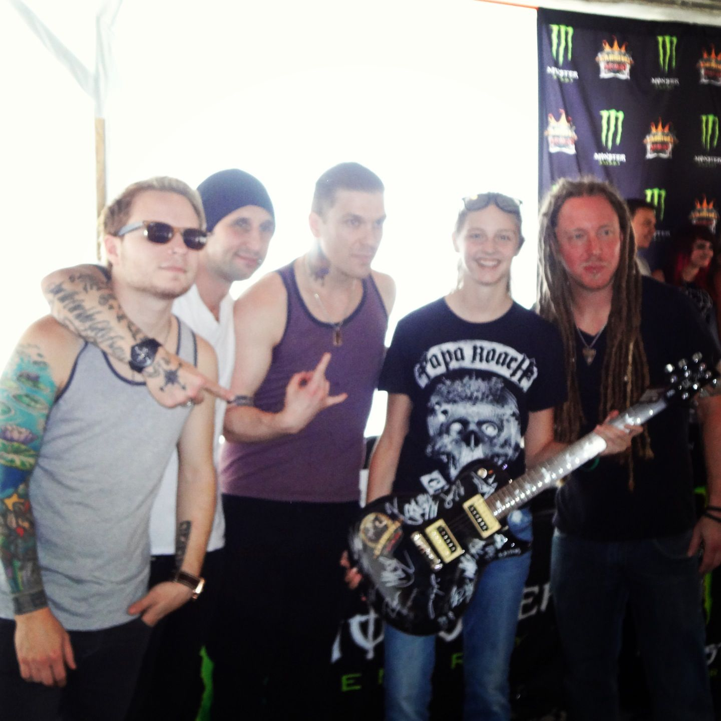 Shinedown Again The Guitar I Won And Got Signed By All The Carnival