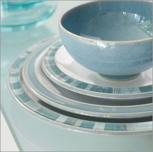 Denby Azure Coast These Are My Dishes Now To Make A Kitchen Around Them