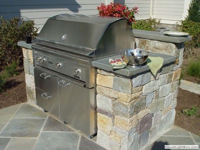 bluestone patio small grill station roll grill into. Black Bedroom Furniture Sets. Home Design Ideas