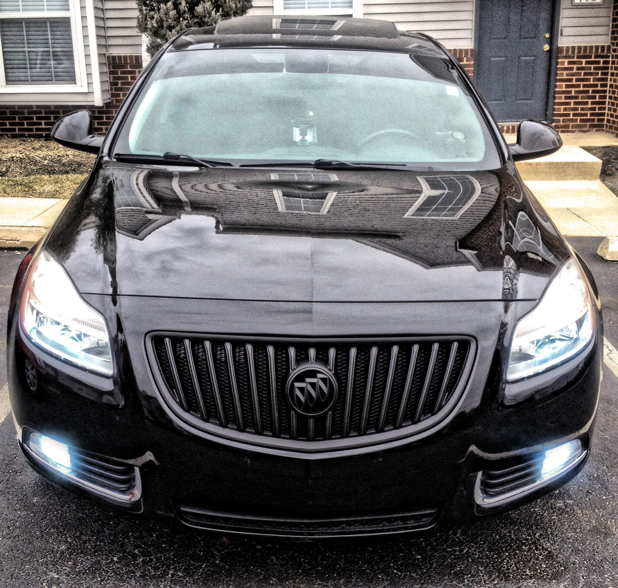 2011 Regal Turbo Plasti Dipped Front Grille 6000k Hid On Fog Lights And Low Beams 20 Window Tint Buick Regal Jaguar F Type Buick