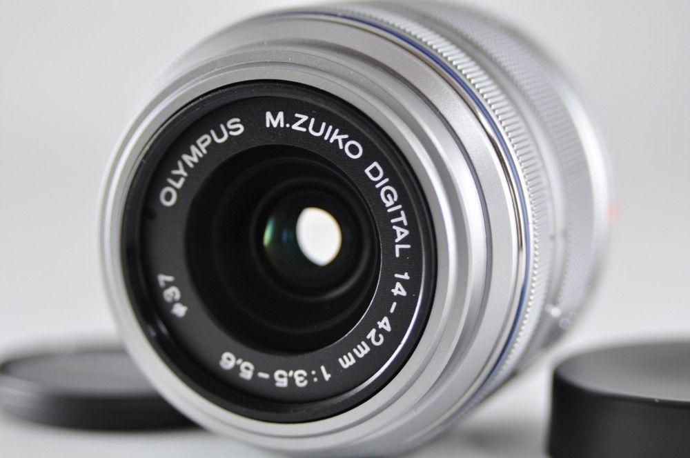 Exc Olympus M Zuiko Digital 14 42mm F3 5 5 6 Ii R Lens Silver Micro 4 3 Olympus Olympus Lens Silver