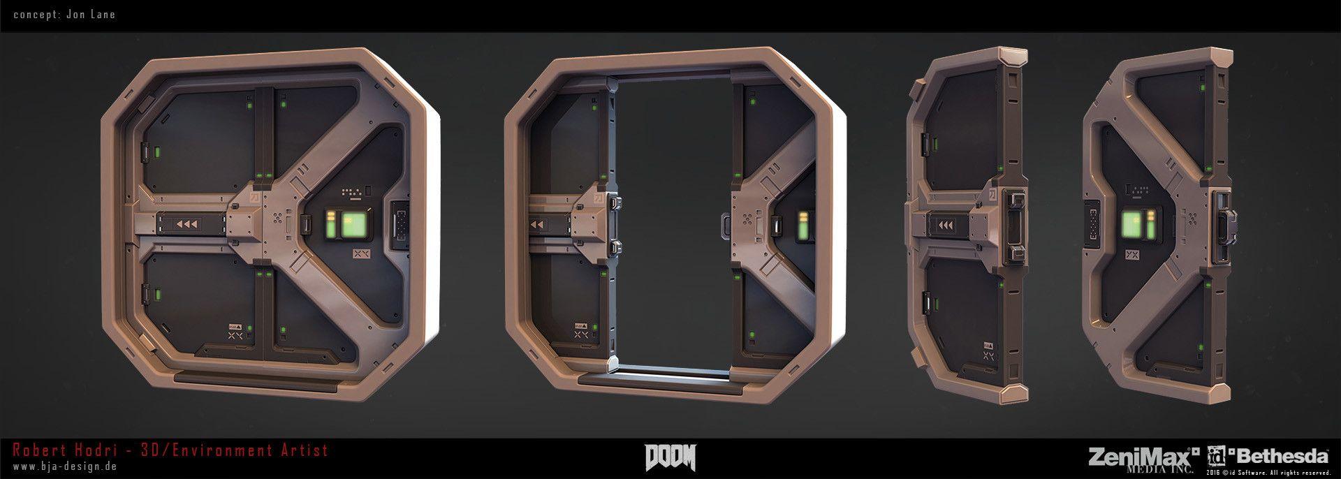 Doom Doors Robert Hodri Sci Fi Props Space Station Art Starship Design