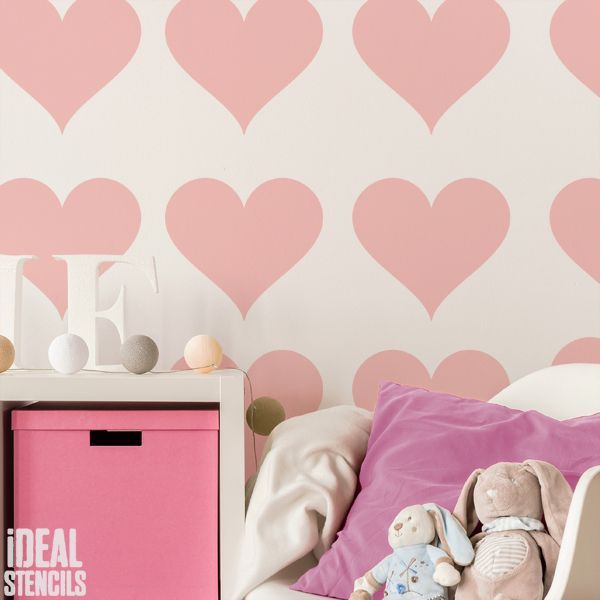Love Heart Stencil In 2019 Nursery Stencils Heart Stencil