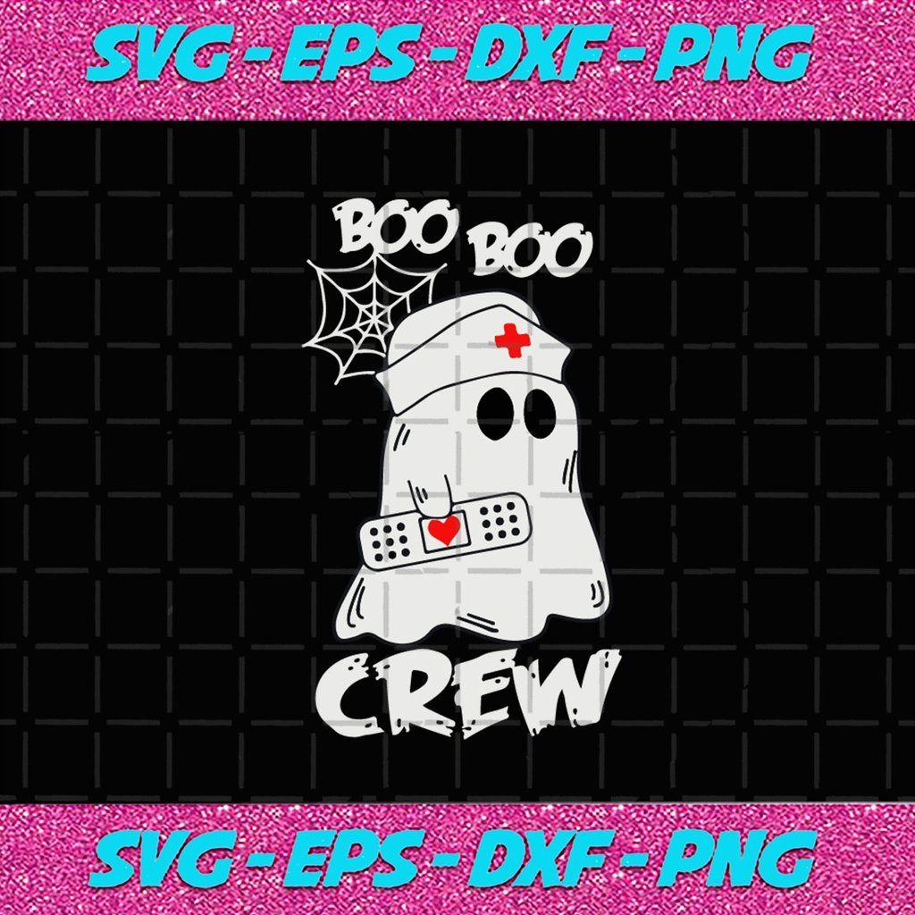 Boo Boo Crew I'm a Nurse, Boo Bees Svg, Boo Svg, Halloween