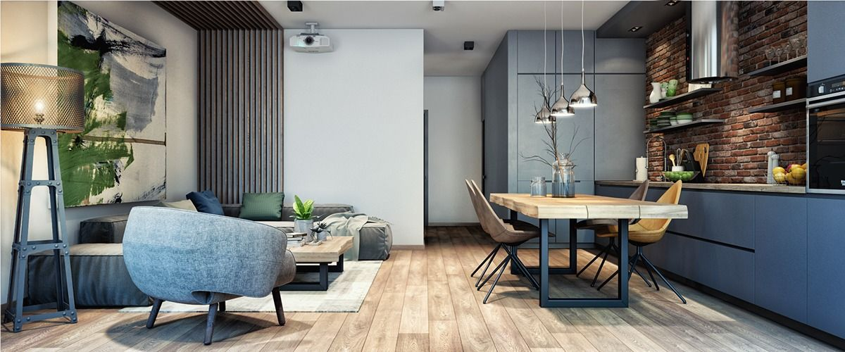 Home designing via 2 luxury apartment designs for young couples