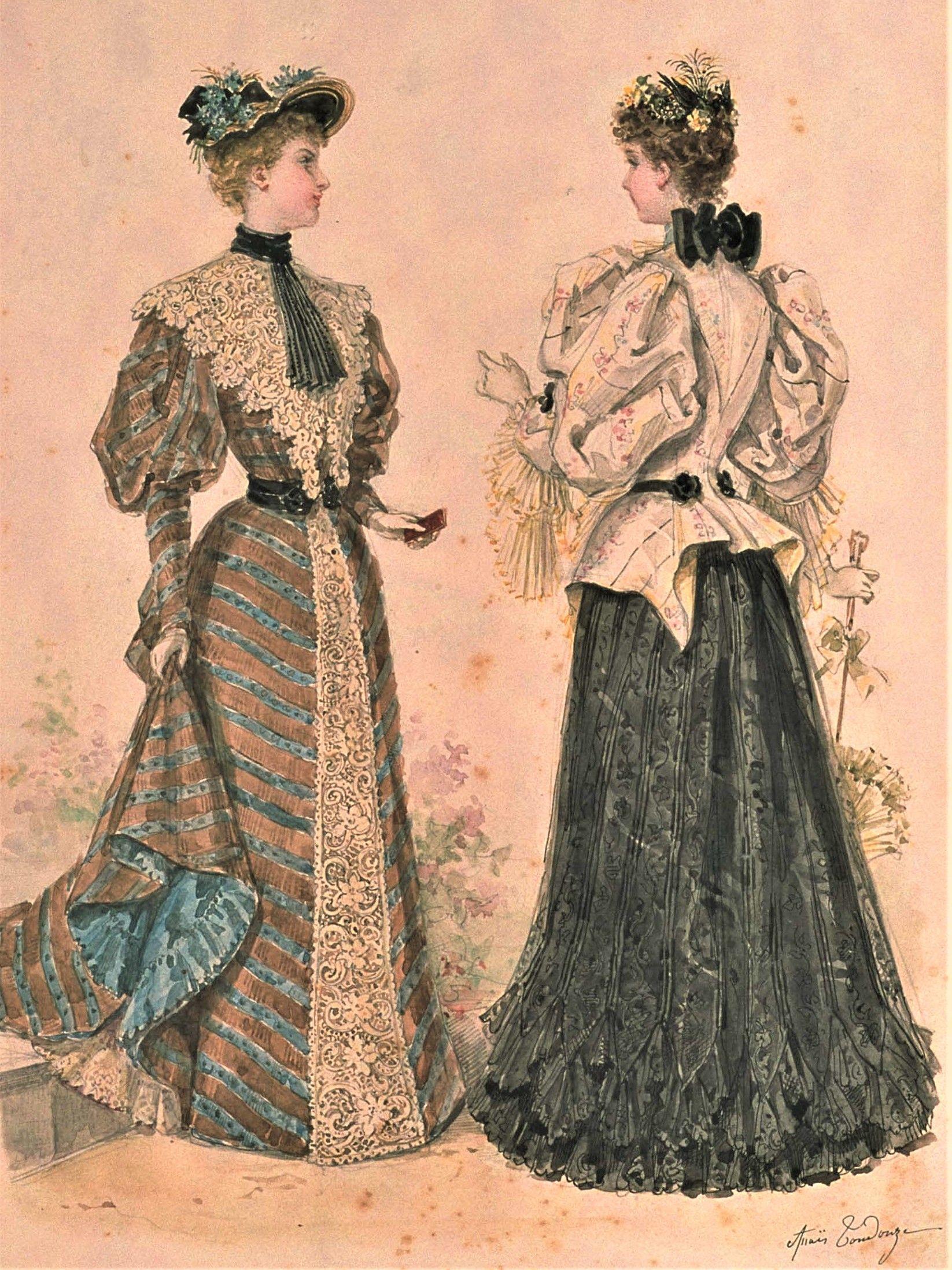 La Mode Illustree 1894 Edwardian Fashion Fashion History 1890s Fashion [ 2195 x 1646 Pixel ]