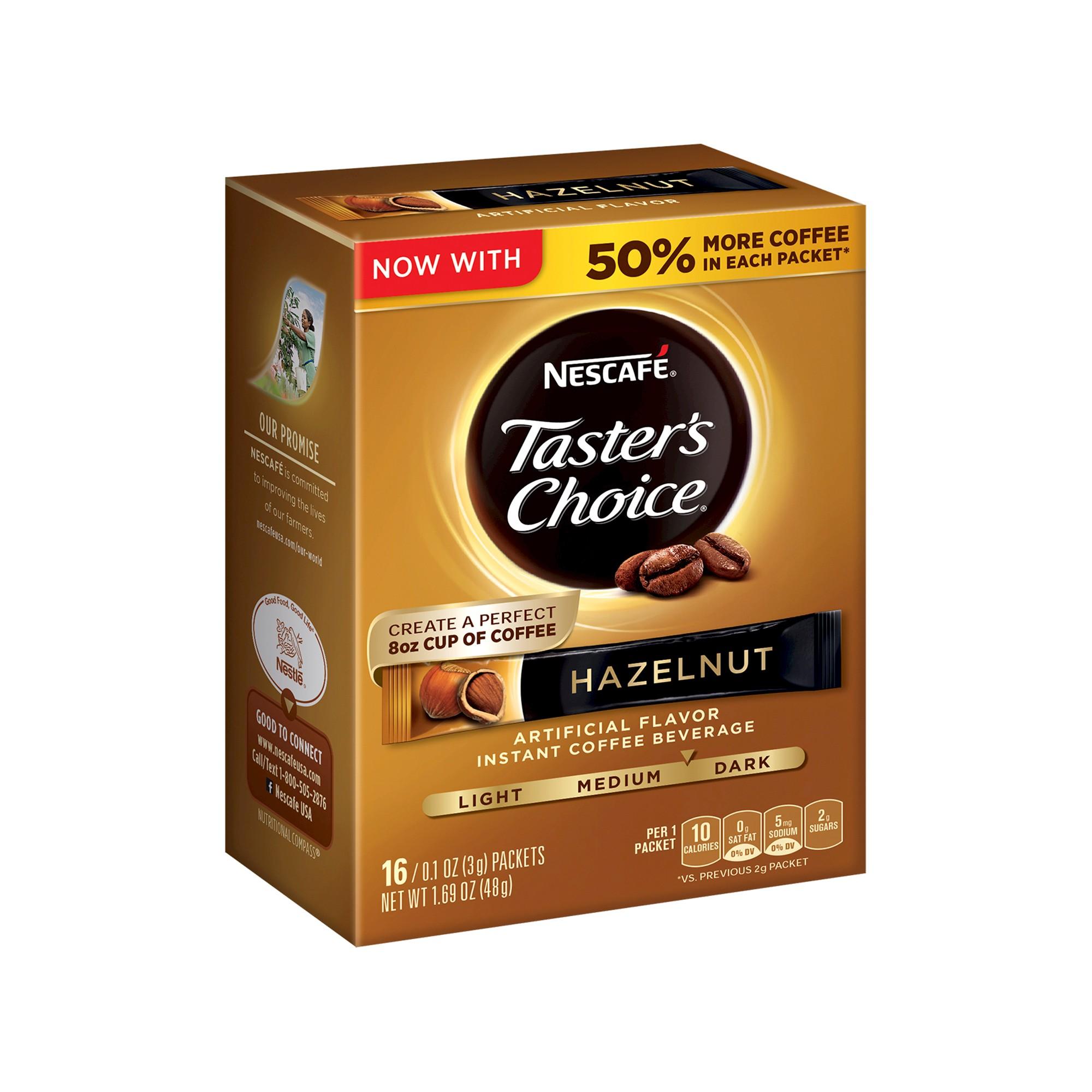 Nescafé Taster's Choice Hazelnut Gourmet Dark Roast