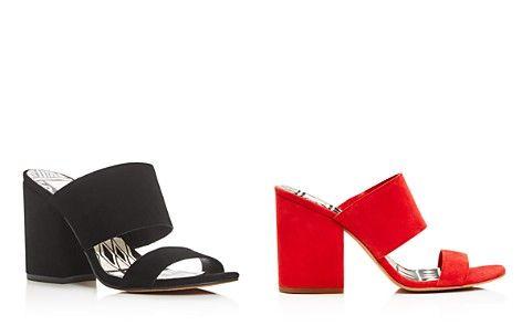 09bd9133ec1 Dolce Vita Two Band Block Heel Slide Sandals