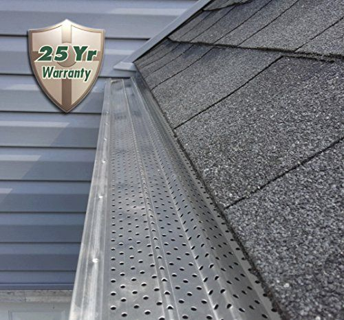 A M Aluminum Gutter Guard 6 50 Feet Gutter Guard Gutter Screens Roof Protection