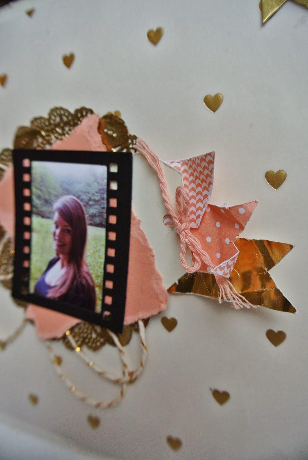 Around the World SU challenge AW12, Crisp Cantaloupe, On Film framelits, Gold Foil sheet Stampin Up