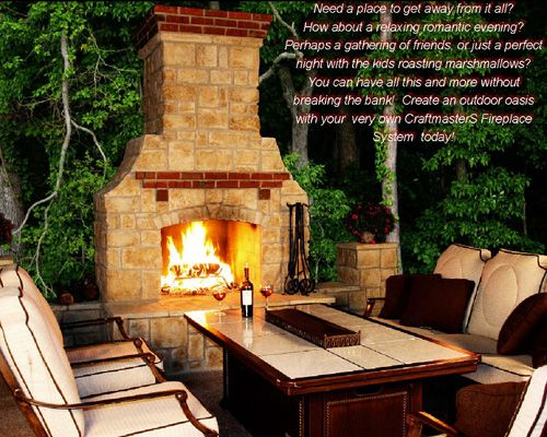 Outdoor Fireplace exterior looks Pinterest