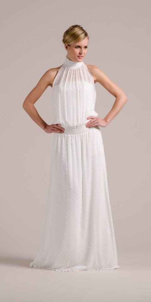 New Boho Brautkleid aus angesagtem Punktechiffon für ...
