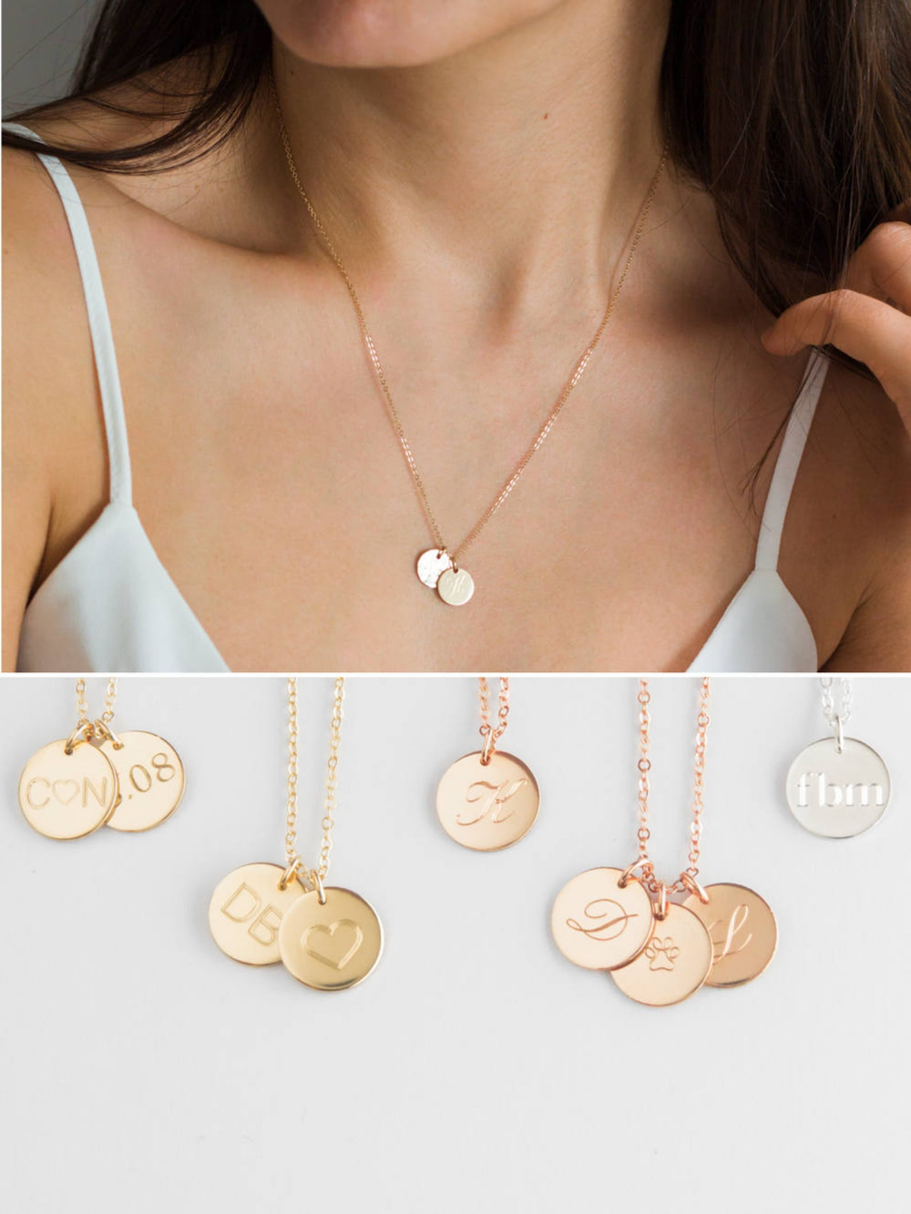 Two Initial Necklace Double Initial Necklace 2 Initial Etsy Initial Necklace Dainty Gold Necklace Star Charm Necklace