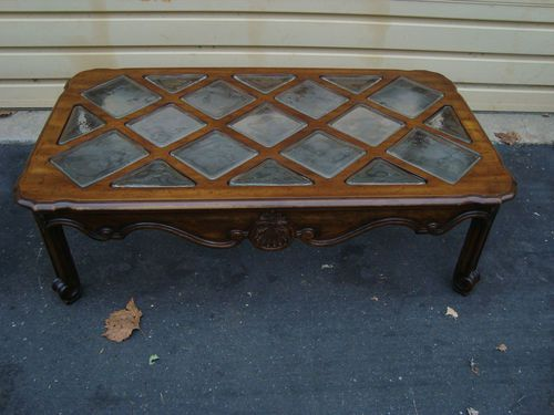 51453 Drexel Heritage Large French Coffee Table With Gl