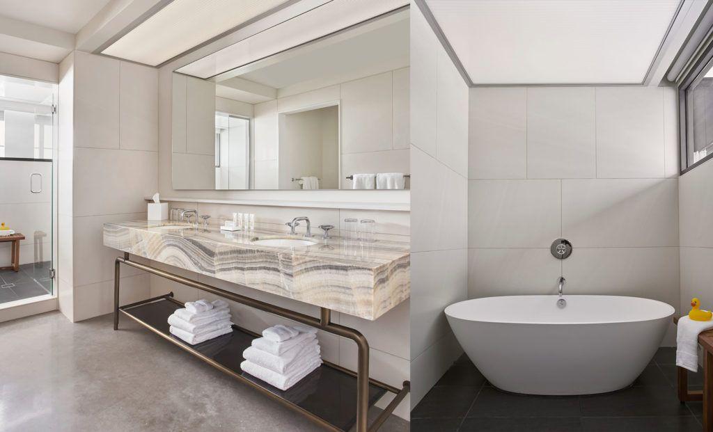21c Oklahoma City Boutique Art Hotel Guest Rooms Suites Hotel Bathroom Design