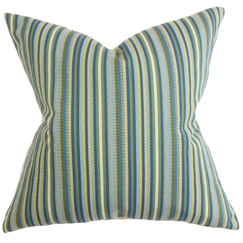 Dafydd Stripes Throw Pillow Cover Blue throw pillows