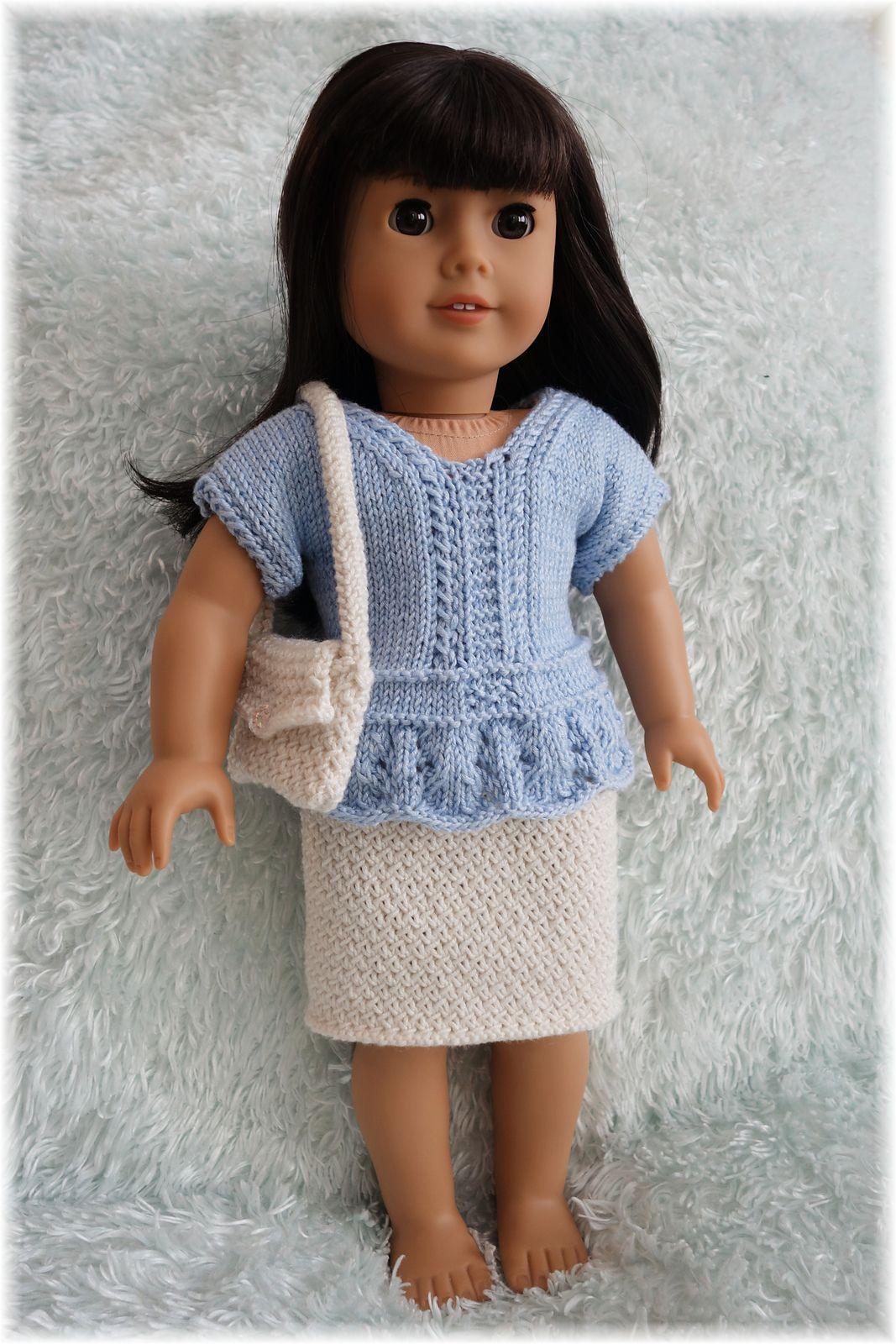 American Girl Top Skirt & Purse pattern by Linda Kulybanycz ...