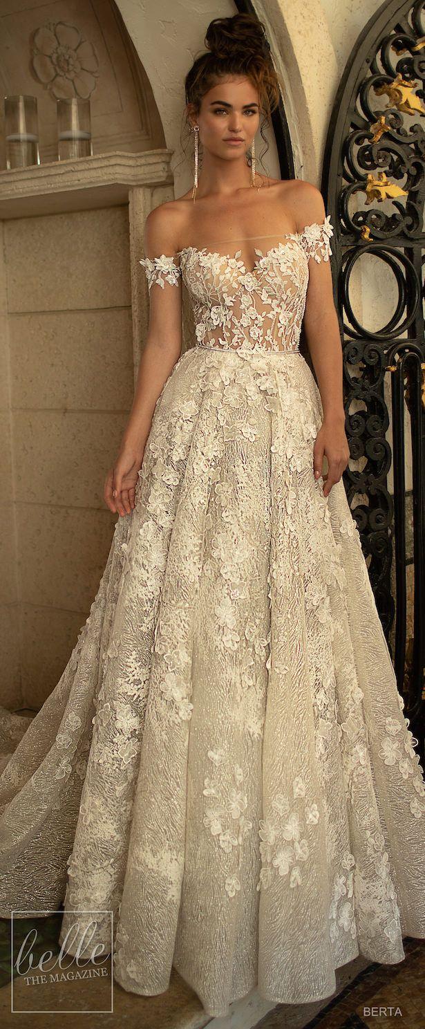 Brown wedding dresses  BERTA Wedding Dresses Spring   Miami Bridal Collection