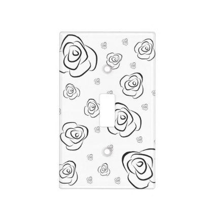 roses light switch cover flowers floral flower design unique style