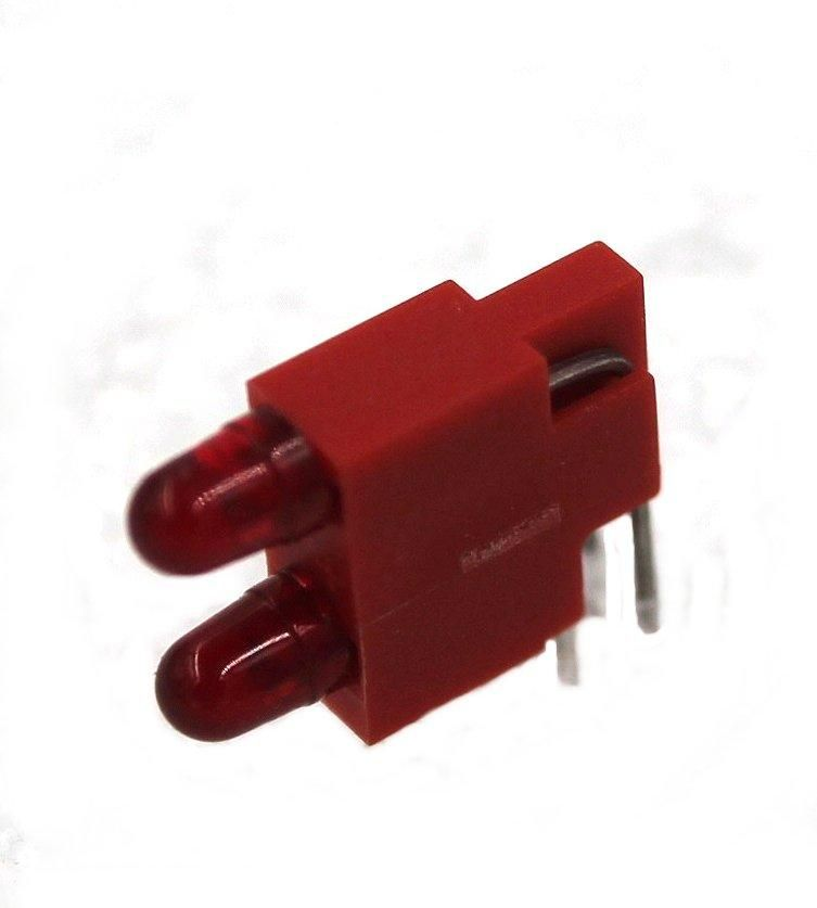 Emla Dual Right Angle LED in housing, part#09-1010-63 LED, Red.