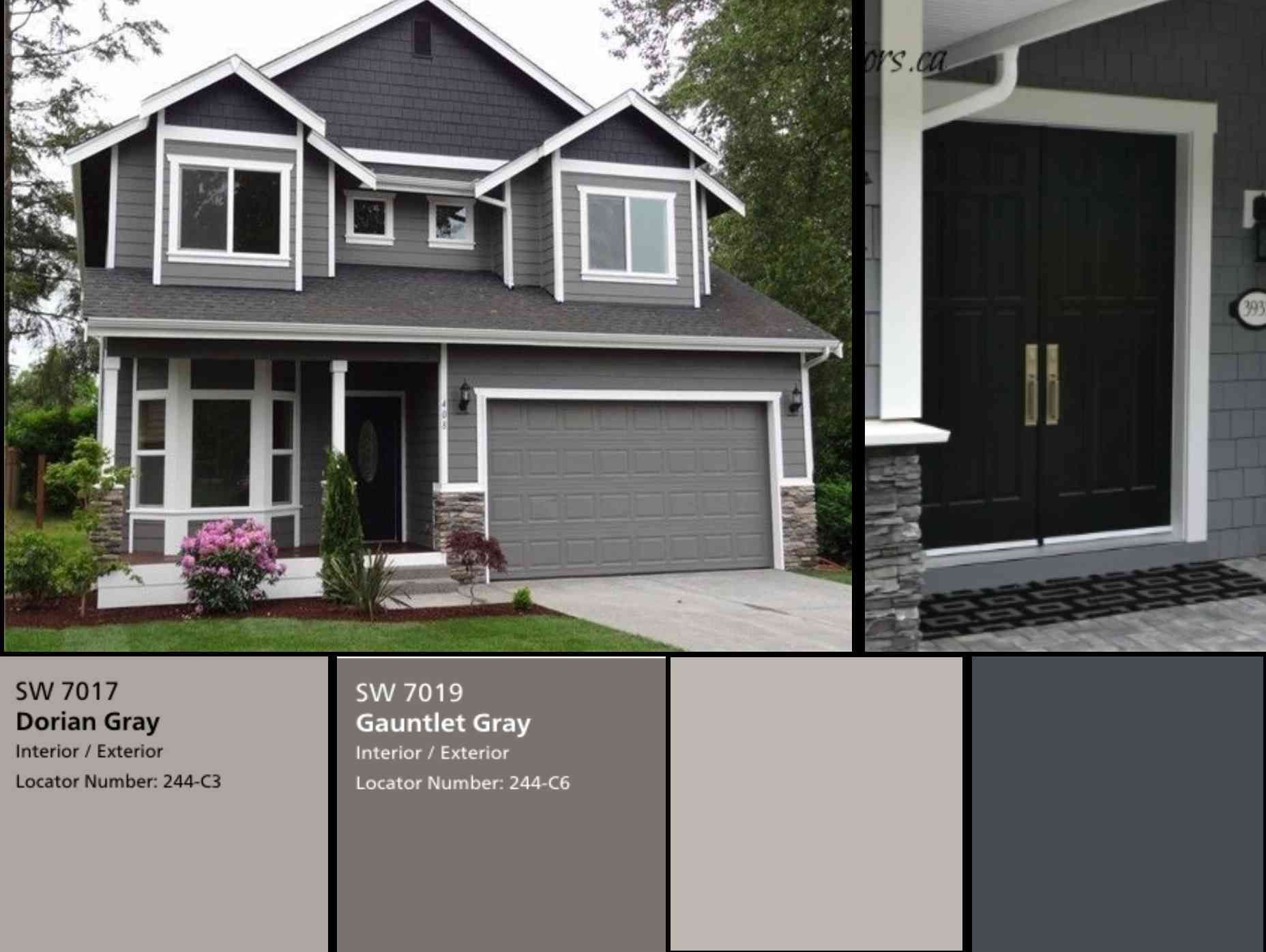 Best Exterior Gray Paint Colors Sherwin Williams New Popular House