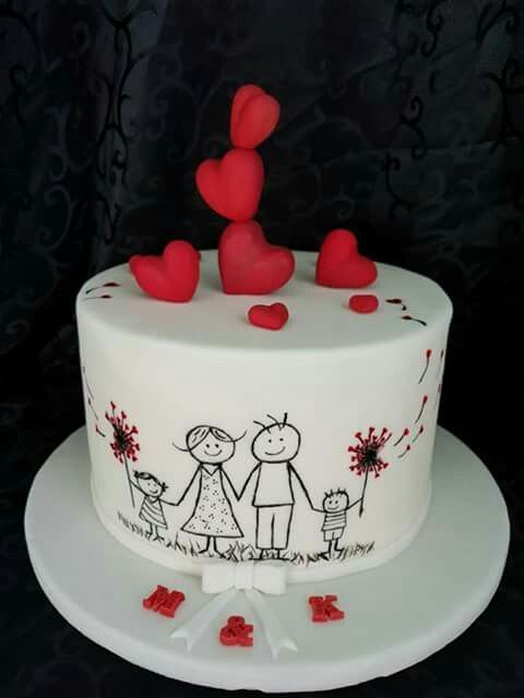 Cute Family Valentine S Cake Birthday Cake For Husband Cupcake