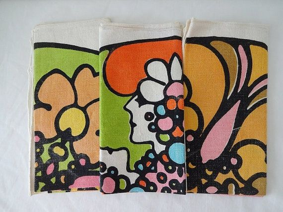 Vintage Peter Max Napkins Peter Max Peter Max Art Psychedelic Colors