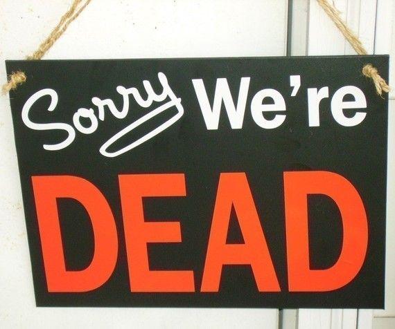 True Blood inspired hanging door sign Door signs, Doors and - decorate cubicle for halloween