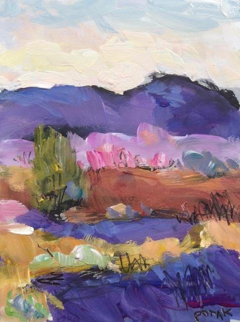 Expressive Colorful Landscape Painting Fauvist Style Small Colorful Landscape Paintings Colorful Landscape Landscape Paintings