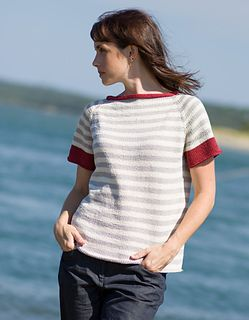 A classic raglan tee worked from the top down, beginning with the neckband worked sideways, Mohala is a blank slate for your customization. Add stripes of your choosing – allover or to the yoke, body or neckband only.