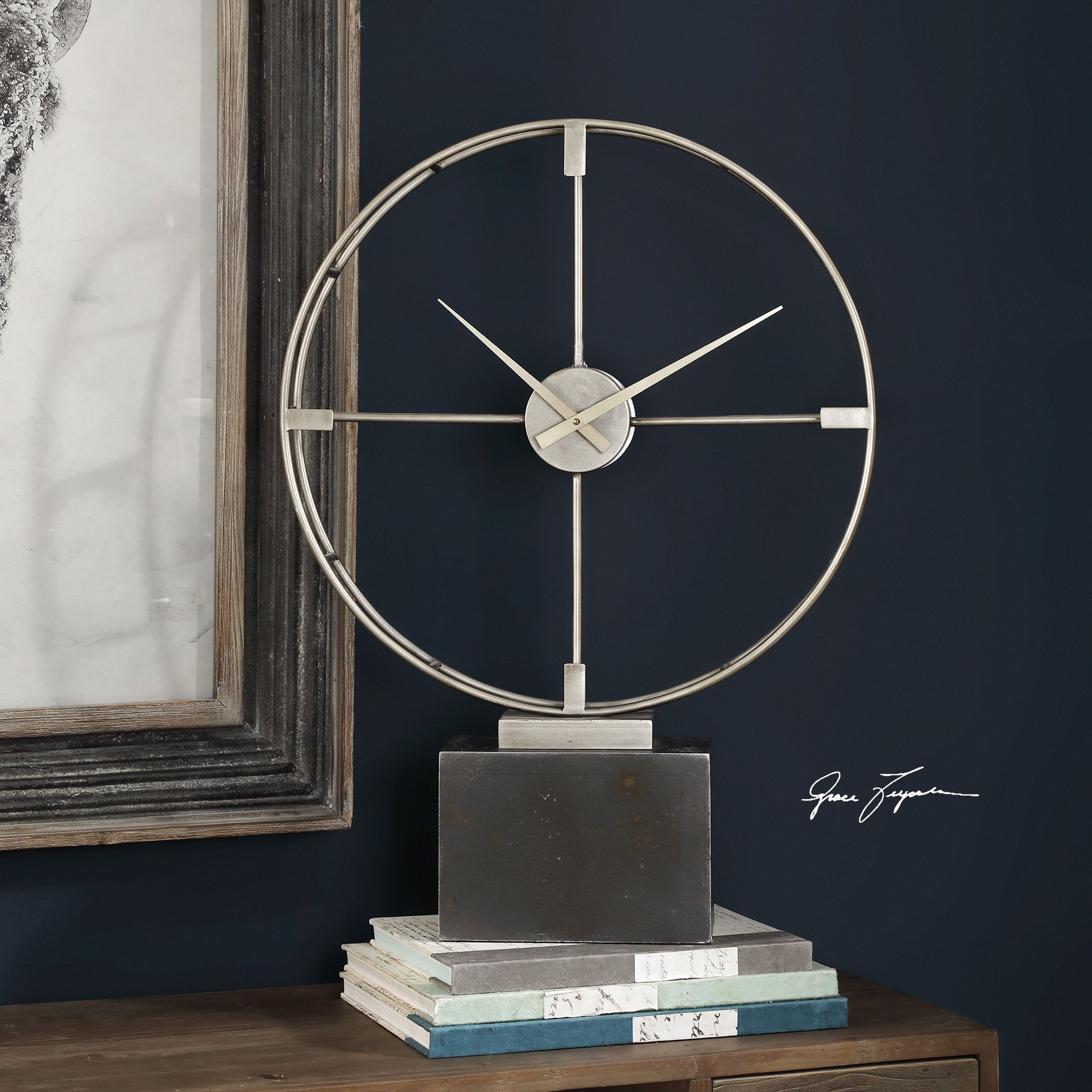 Janya Contemporary Table Clock in 2019 | Things for My Wall