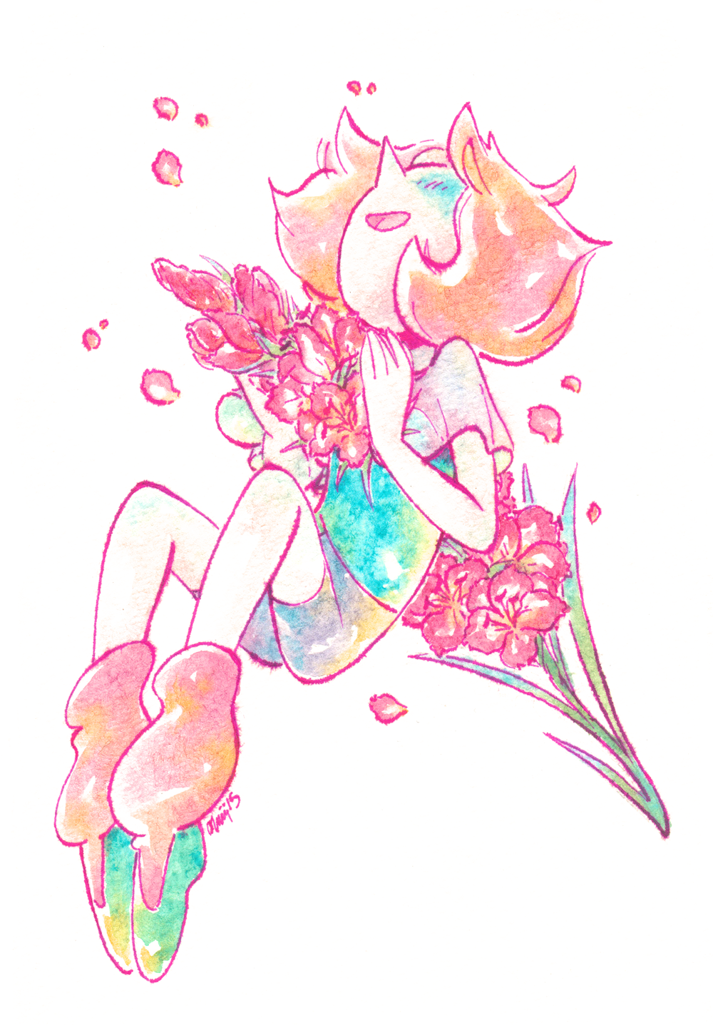 Steven Universe Sketch Rose: Two Pearl Watercolor Things From The Last Couple Of Days