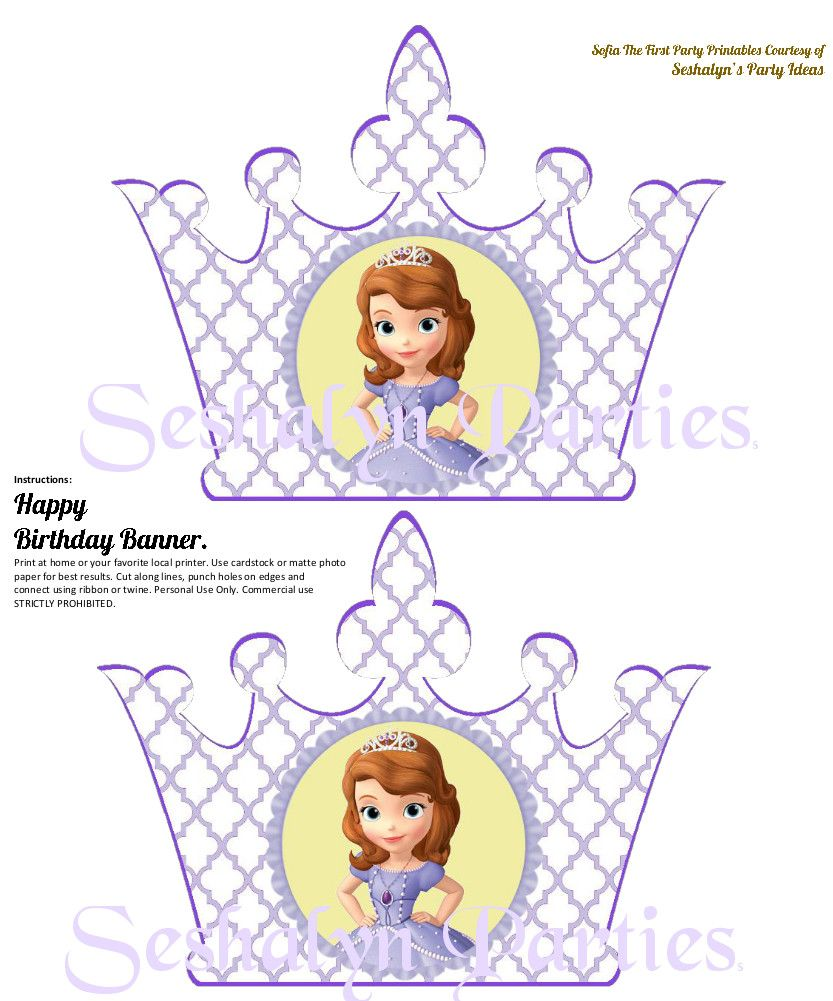 sofia the first free party printables seshalyn u0027s party ideas