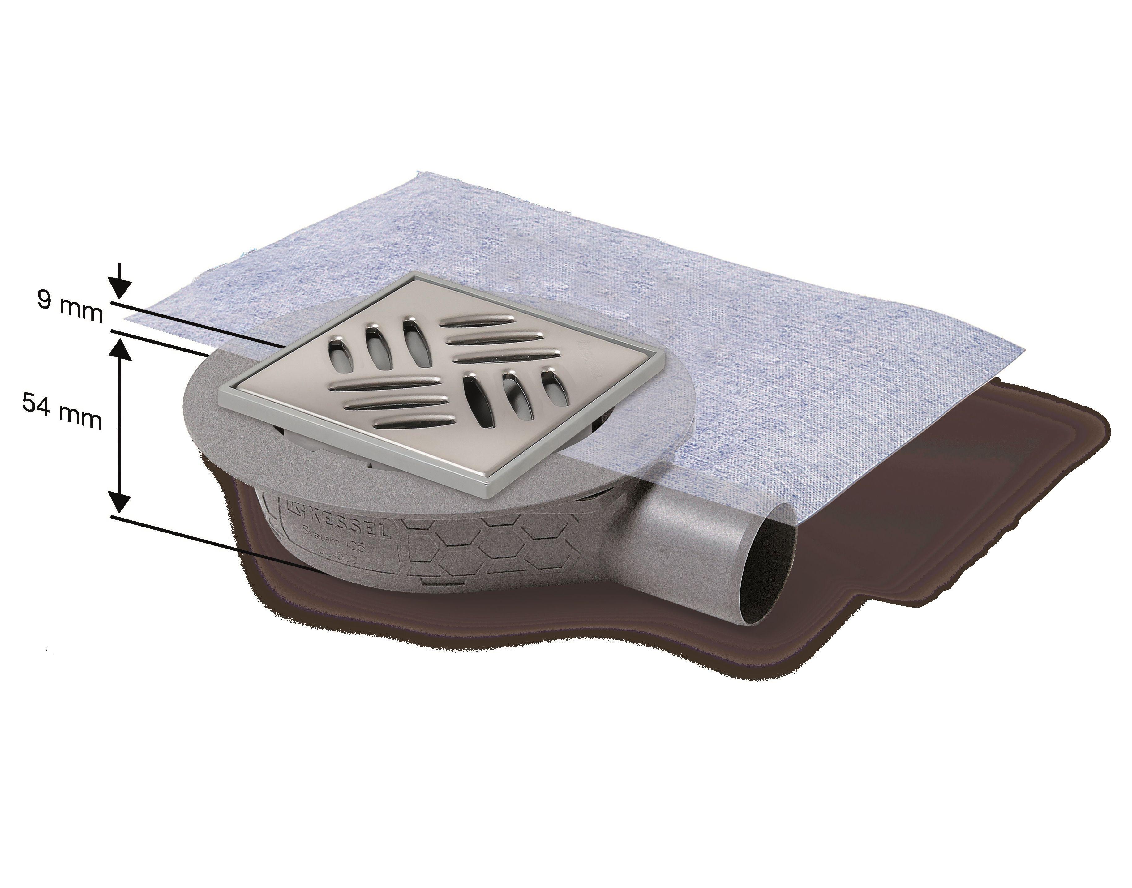 Der Ultraflache Bodenablauf Mit Minimierter Einbauhohe Boden Entwasserung Sanitar