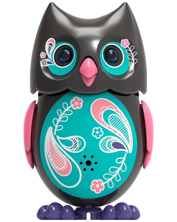SilverLit Сова с кольцом черная с розовыми крыльями ...